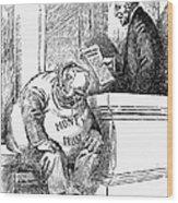 Wilson Cartoon, 1913 Wood Print