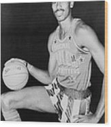 Wilt Chamberlain, Wearing Uniform Wood Print
