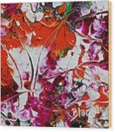 Wilted Flowers Wood Print