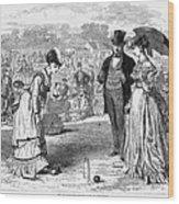 Wimbledon: Croquet, 1870 Wood Print by Granger