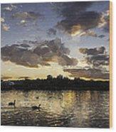 Wimbledon Sunset Wood Print