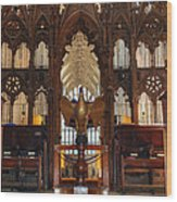 Winchester Cathedral Quire Wood Print