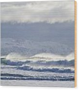 Wind And Waves Wood Print
