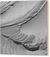 Wind Creation Bw Wood Print