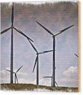 Wind Farm IIi - Impressions Wood Print