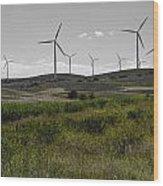 Wind Farm Iv Wood Print