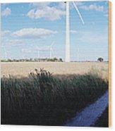 Wind Farm - Skaane Wood Print