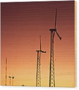 Wind Power For Agriculture Wood Print
