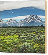 Wind River Range In West Central Wyoming - 02 Wood Print