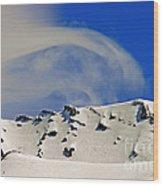 Wind Skier Wood Print