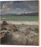 Wind Storm On Lake Pukaki Wood Print