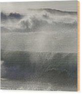 Wind Thrashes The Waves At Camps Bay Wood Print