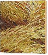 Windblown Grass Wood Print