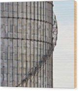 Winding Aluminum Stairs Wood Print