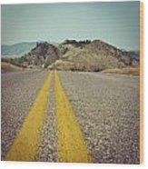 Winding American Highway Wood Print by Ray Devlin
