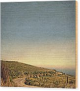 Winding Road To The Sea Wood Print