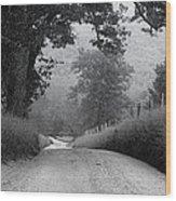 Winding Rural Road Wood Print