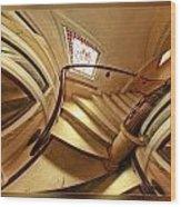 Winding Staircase Wood Print