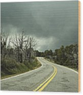 Winding Two Lane Road Wood Print by Ned Frisk