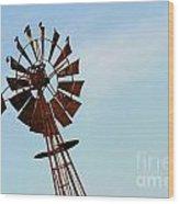 Windmill-3667 Wood Print