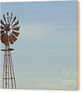 Windmill-3673 Wood Print