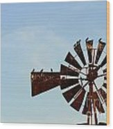 Windmill-3772 Wood Print