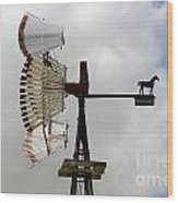 Windmill 9 Wood Print