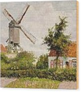 Windmill At Knokke Wood Print