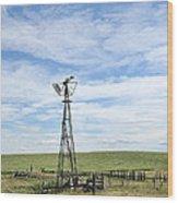 Windmill II Wood Print
