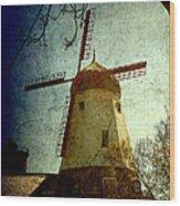 Windmill In Solvang California Wood Print