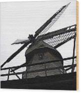 Windmill In The Sky Wood Print