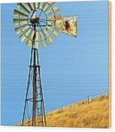 Windmill On Golden Hill Wood Print