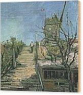 Windmill On Montmartre Wood Print