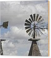 Windmills 5 Wood Print