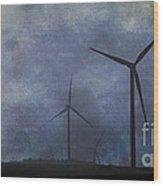 Windmills. Wood Print
