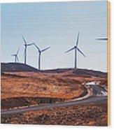 Windmills Near El Chorro Wood Print