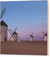 Windmills Of La Mancha - Central Spain Wood Print