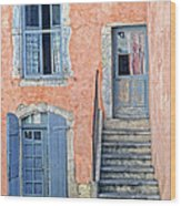 Window And Doors Provence France Wood Print