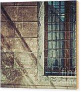 Window And Long Shadows Wood Print