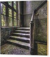 Window And Stairs Wood Print