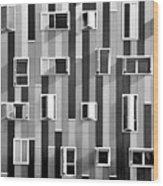 Window Facade Wood Print by Gabriel Sanz (Glitch)