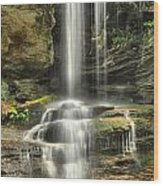 Window Falls Cascade Wood Print