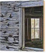 Window Frame Wood Print