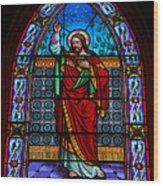 Window In Trinity Church Iv Wood Print