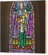 Window In Trinity Church V Wood Print by Steven Ainsworth