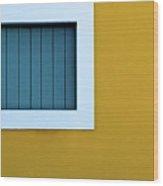 Window Wood Print by L F Ramos-Reyes