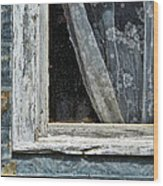 Window Of Old Abandoned Building Wood Print