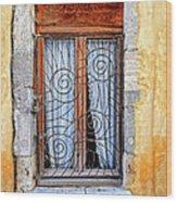 Window Provence France Wood Print
