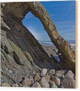 Window To The Beach Wood Print