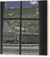 Window To The Rail Yard Wood Print
